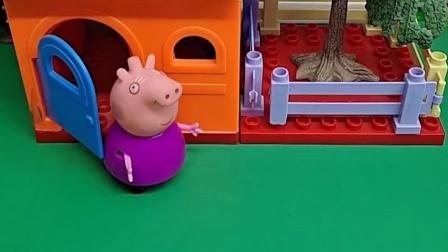 猪奶奶的房子漏了,毛毛看见了,毛毛来帮助猪奶奶