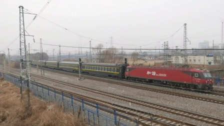 Z383次  三亚—长春  HXD3D  0658  沈局沈段  虎石台幺道通过
