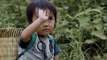 越南北部山区,小小年纪就要背着竹篓帮家里干活