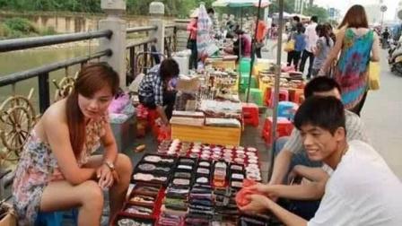 越南美女在中越边境摆摊,但贩卖的东西,却让中国男性无法接受?