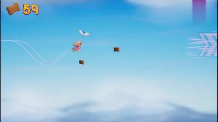 好玩的汪汪队游戏 天天在空中平稳飞行,收集到了很多狗狗饼干
