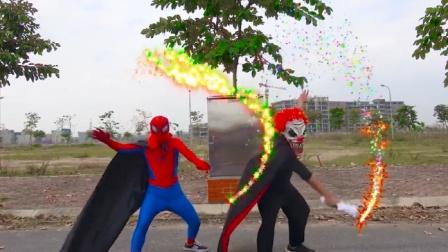 蜘蛛侠真人:吸血鬼蝙蝠被蜘蛛侠用魔法打败了