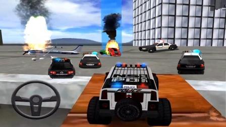 【永哥玩游戏】警察驾驶警车救援模拟器 警车警察救援事故飞机