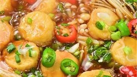 无敌下饭的金针菇豆腐煲,就汤汁都能够吃两碗饭