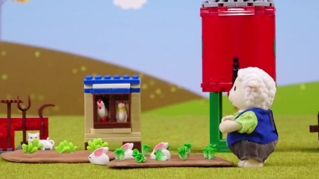 阿奇和小砾一起来农场抓贪吃的小兔子!真是帅气无比!