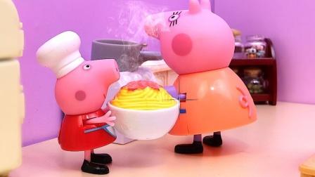 太厉害了,小猪佩奇猪妈妈一起制作什么神奇美食?