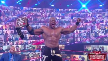 WWE RAW1448期回放-中文原声: 鲍比莱斯制裁人间怪兽 龙卷风双打赛上演
