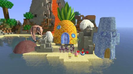 GMOD游戏奥特曼藏在菠萝房子里会被怪物找到吗?