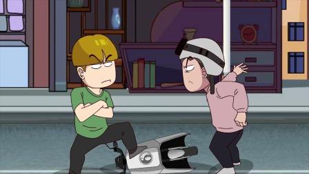 搞笑动画:小瞧别人骑车穷,背后实力让人咋舌