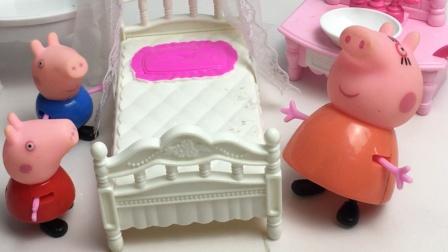 佩奇乔治不想睡觉,猪妈妈安慰了佩奇乔治