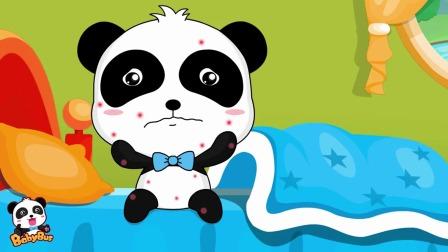 不要学小熊猫在床上吃东西因为细菌宝宝也会跑上来