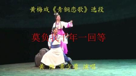 """黄梅县剧院演出《青铜恋歌》选段""""莫负我千年一回等""""黄维 黄少勇演唱"""