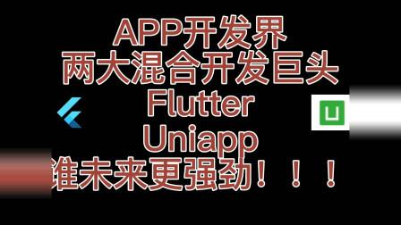 两大开源APP混开框架巨头uniapp和flutter谁更强劲