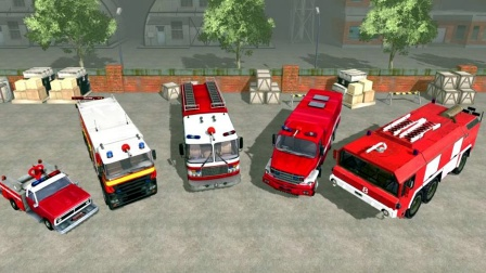 【永哥玩游戏】消防员驾驶消防车城市救援 消防员灭火
