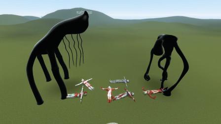 GMOD游戏奥特曼打不过的怪物小黑能打过吗?