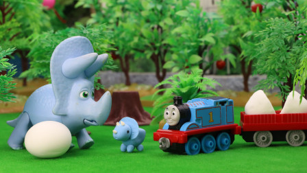 托马斯小火车捡到了谁的蛋宝宝呢?