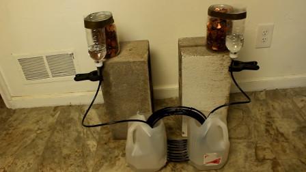 老外利用虹吸原理自制水泵,不用人就能工作,能用来省钱吗?