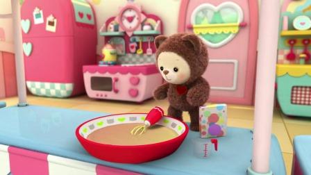 彩虹宝宝:这个月亮糕加了很多的彩虹粉