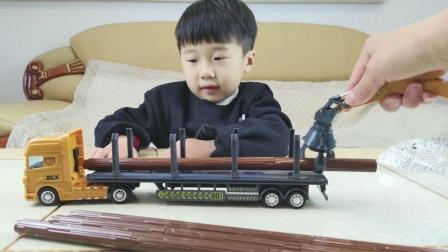 一起拼装一辆木材运输车