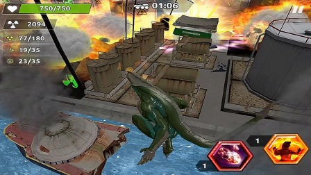 【永哥玩游戏】哥斯拉城市船厂破环模拟器 哥斯拉变异破坏码头