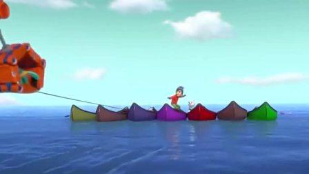 汪汪队:杰克一看就会滑雪,姿势非常标准,在船上站的很稳
