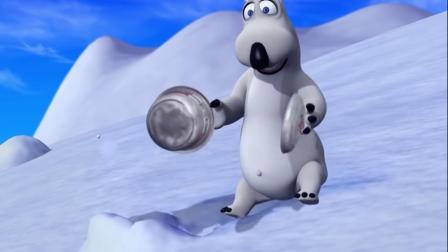 搞笑动漫:倒霉熊在滑雪的时候发现了一个锅