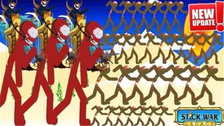 火柴人战争遗产:僵尸王派出成千上万的小兵,营地瞬间被吞噬