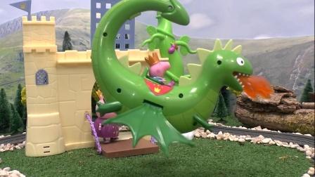 乔治骑着恐龙在天上飞来飞去