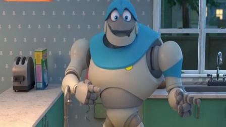 搞笑动漫:机器人为小宝贝表演杂技