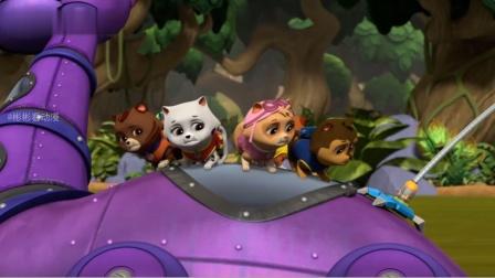 汪汪队:猫咪被困在沼泽里,路马勇敢的救下它们!