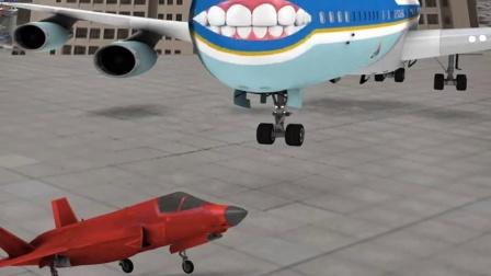 这飞机俩居然会张嘴聊天?小飞机的回答绝了