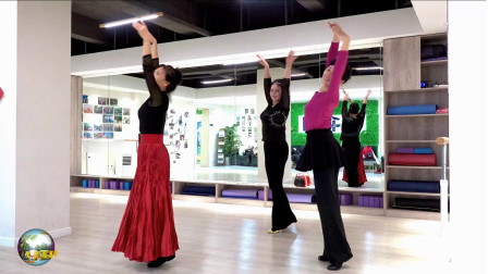 玲珑广场舞《又见北风吹》,亚南、王鹤、玲玲三个美女室内练习