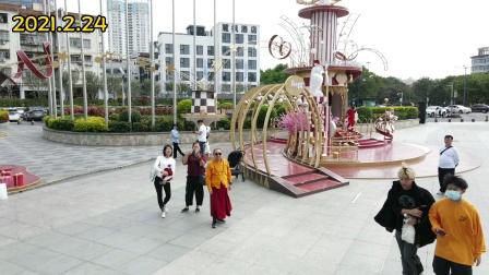 航拍深圳宝安海雅缤纷城2021.2.24