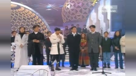 回顾 二十多年前王菲与四大天王抢麦唱歌 太珍贵!