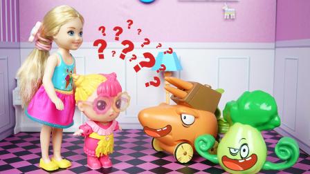 芭比娃娃挑食,发现蔬菜会说话
