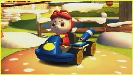 【波特】猪猪侠之百变飞车:参加比赛遇上神秘敌人,怎么办?