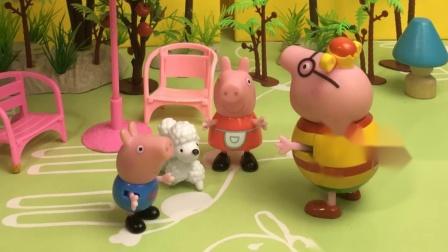 乔治佩奇给小狗狗起名字,猪爸爸来给他们出主意