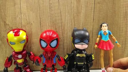 钢铁侠,蜘蛛侠,蝙蝠侠玩具宝宝萌宠