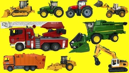彩色汽车工程车玩具拆盒组装