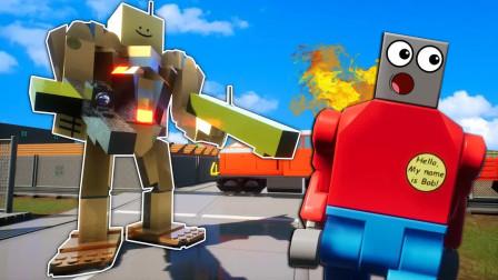 乐高游戏:蒸汽式战地机甲出击,怪物银蛇出洞,它居然敢盘我