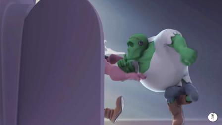 绿巨人死后成了丧尸,就因邻居一个毛病,他从棺材里跳了出来!