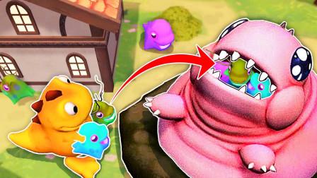 怪虫宝宝 我把小偷抓来喂蠕虫,把它喂成了座肉山 桃子精解说