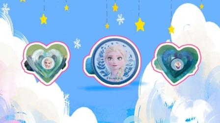 冰雪奇缘:奇趣蛋拆出艾莎雪宝戒指公主发圈