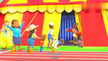 汪汪队:马戏团正在表演,道具出现意外,团长联系莱德