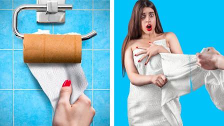 如果卫生纸能变成真人,扯下一张会怎样?全程令人捧腹大笑!