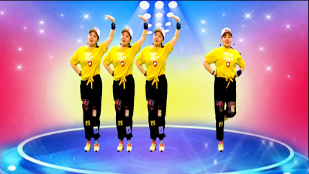 明天会更好广场舞《桥边姑娘》动感好听,舞蹈简单活力!