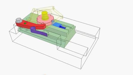 棘轮机构的巧妙设计,看看怎么运行的?