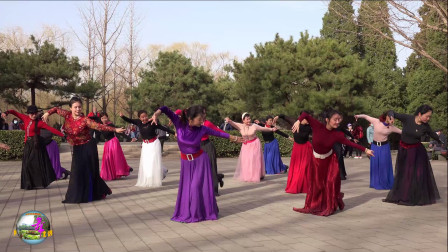 玲珑广场舞《翻身农奴把歌唱》,正月初十,小红、小马、玲玲领舞