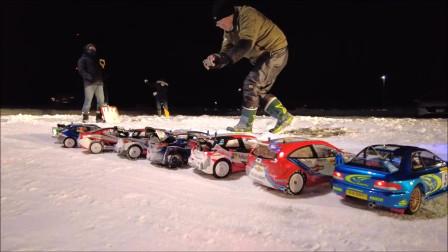 大雪后的RC拉力比赛
