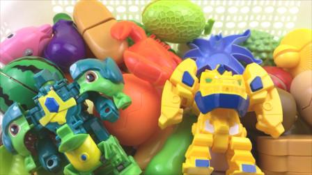 超变武兽和武装精灵一起来切水果